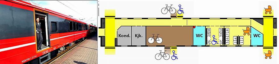 BF-14. Вагон для перевозки велосипедов, колясок и инвалидов.