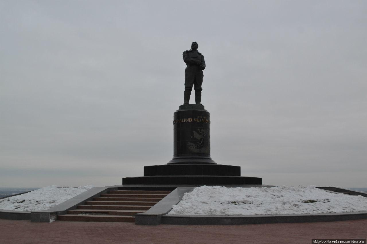 Памятник Чкалову Нижний Новгород, Россия