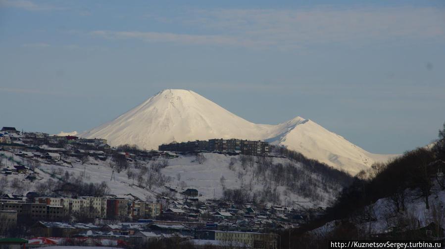 Авачинский вулкан от Култучного озера