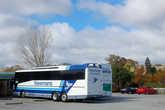 Остановка на обед. Автобус Newmans Coaches