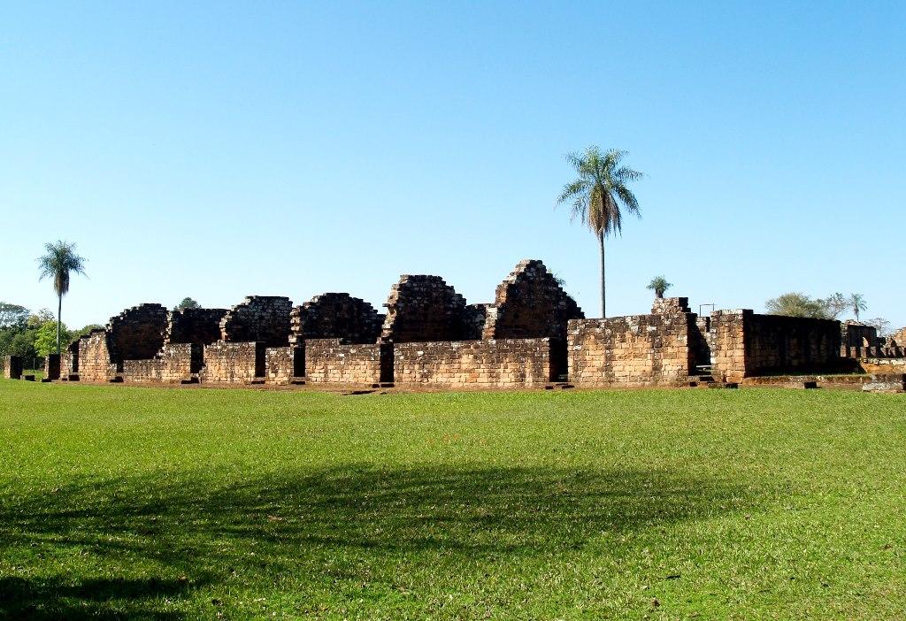 Руины миссии иезуитов в Тринидад, памятник ЮНЕСКО в Парагвае Тринидад, Парагвай