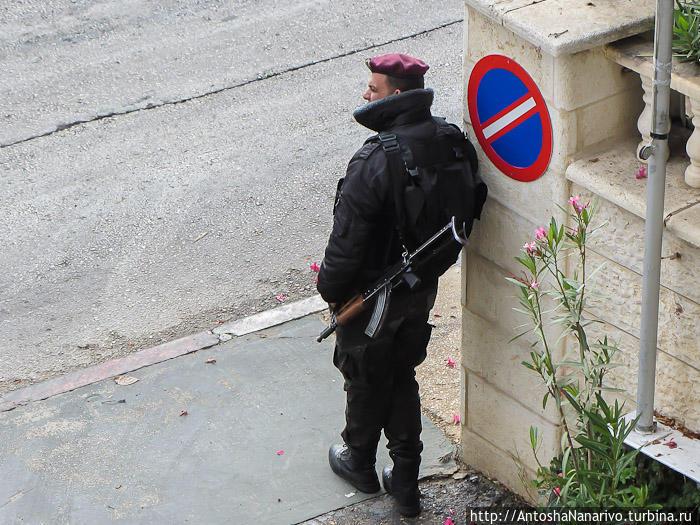Палестинский гвардеец. Рамалла, Палестина