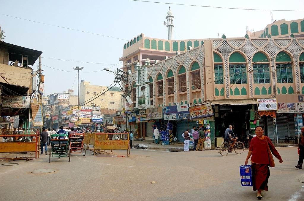 Делийская мечеть и велорикши — первое знакомство с Индией Дели, Индия