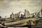 Гольшанский замок. Художник Н. Орда. Юго-восточная и юго-западные части замка. 1876