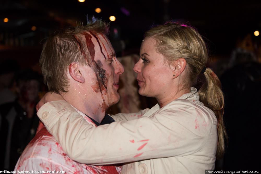 Ползущие зомби Копенгагена Копенгаген, Дания