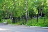 Сад скульптуры за забором