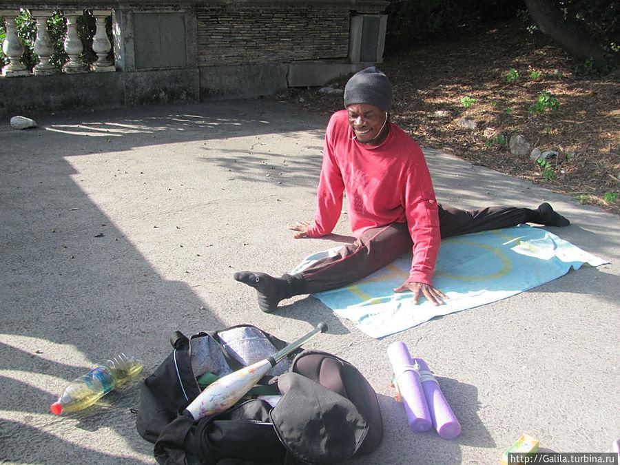 Встреча с уличным артистом