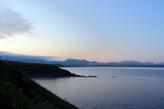 Южно -Курильск. Вдали виден конус вулкана Тятя.