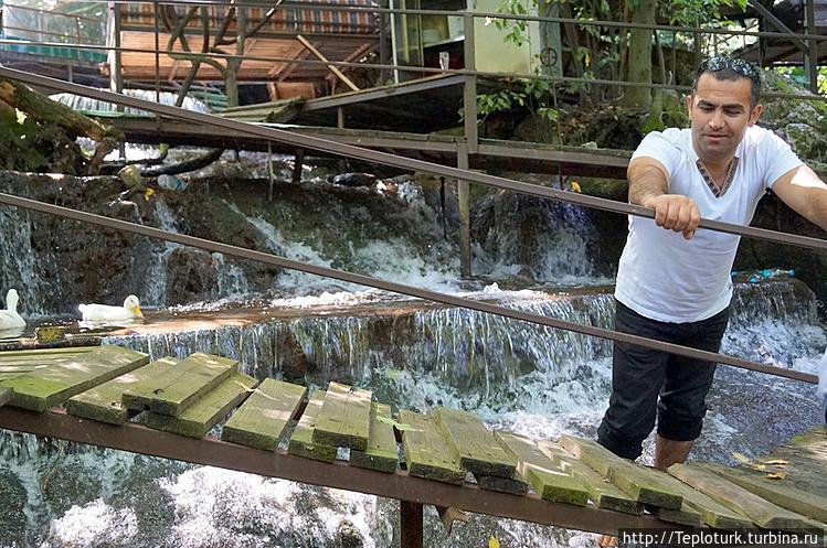 Ресторан на водопаде