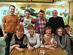 Слева направо девушки: Татьяна (-Tatiana-); Светлана (SvetaSG); Марина (Optimistka16); Татьяна (Florence) юноши: Коля (Donnico); Миша (Mikeseryakov); Алекс (Boo); Юра (Anikst)