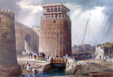 Вот так выглядел Форт во времена своего расцвета. Круглая башня. Литографии с эскизов Уильяма Эдвардса (1844 год).