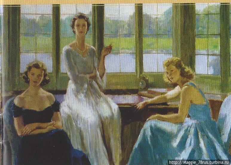 Портрет леди Бейли с дочерьми Сюзанной (слева) и Паулиной (справа) выполнен в 1948 году французским художником Этьеном Дрианом