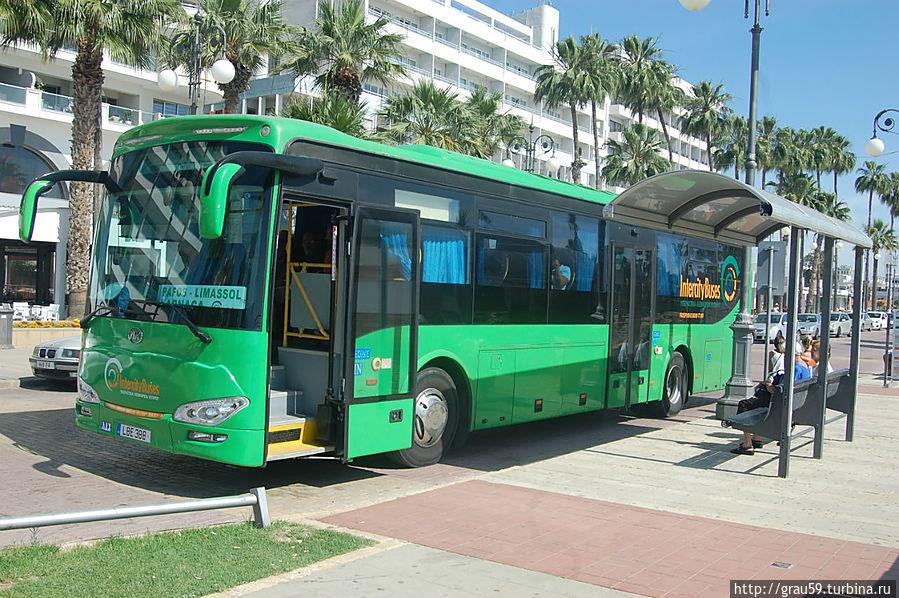 Автобус Ларнака-Лимассол-Пафос