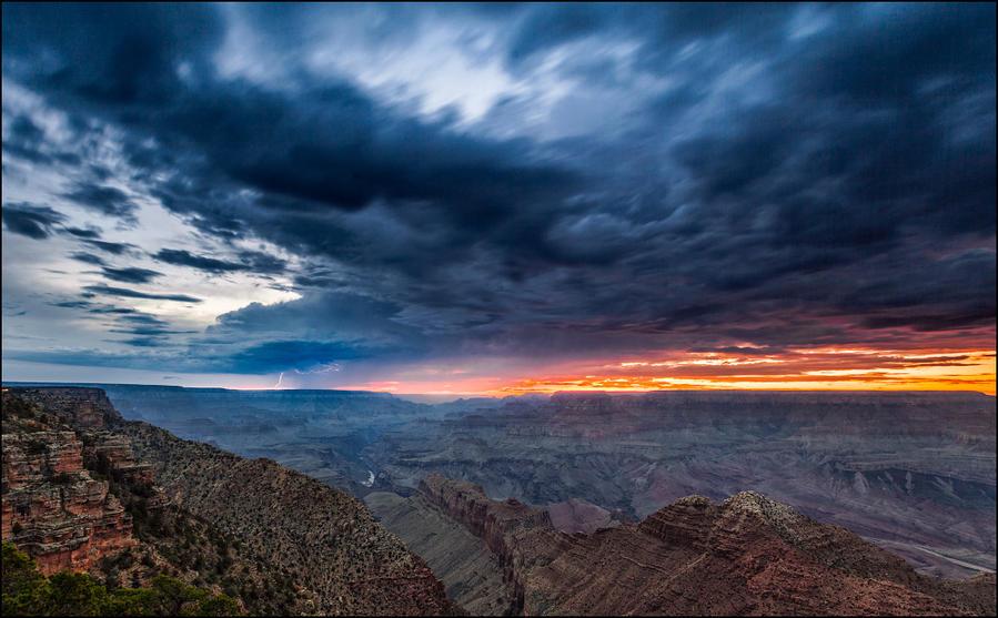 США. Великий Гранд Каньон... Национальный парк Гранд-Каньон, CША