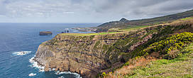 Мыс недалеко от терм. Фотография сделана с обзорной точки Viewpoint of Ponta do Escalvado.