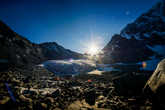 Идеальное утро, чтобы начать восхождение. ледник Арбуз.