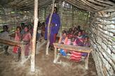 Школа в масайской деревне