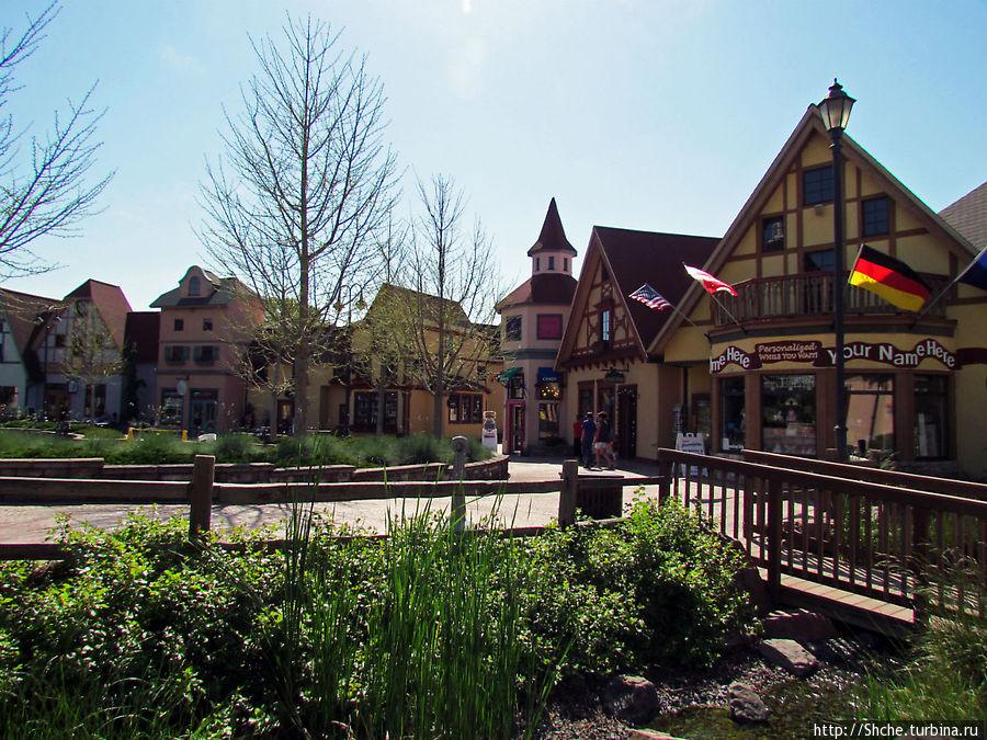 River Place — немецкая сказка для туристов в Америке Франкенмут, Соединенные Штаты Америки
