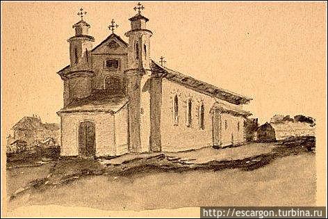 Предыдущее здание костела