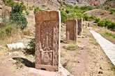 Так же территория монастырского комплекса уставлена хачкарами. Изображениями креста, высеченными в камне.