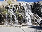 Водопад на выходе из парка.
