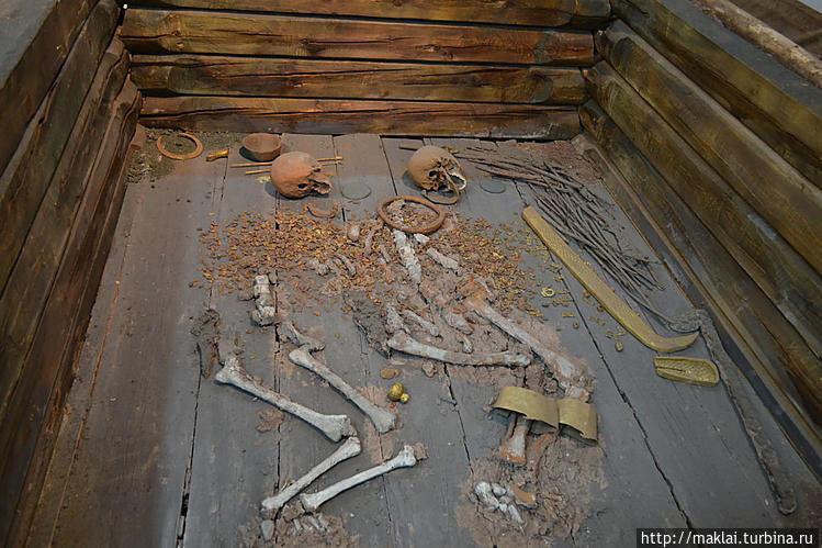 Макет погребения в Аржаан