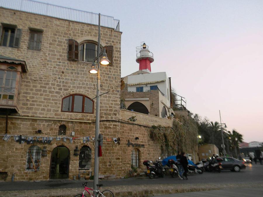 маяк, построенный в 1936 году Яффо, Израиль