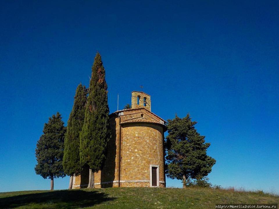 ''cappella Vitaleta'' Сан-Куйрико-д'Орчия, Италия