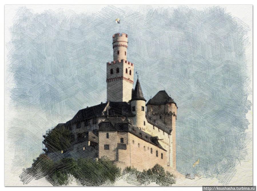 Маркcбург оказался единственным замком во всей долине, который сумел выстоять под натиском не только времени, но и французской армии в XVIIв. Все остальные замки долины Рейна были разрушены или серьезно повреждены. Земля Рейнланд-Пфальц, Германия