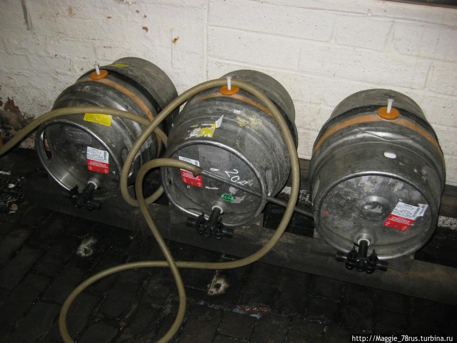 1 бочка пива обязательно остается на пивоварни для контроля за качеством продукции