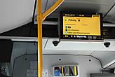 В автобусе электронное табло остановок, которое вам позволит уверенно себя чувствовать во время поездки...