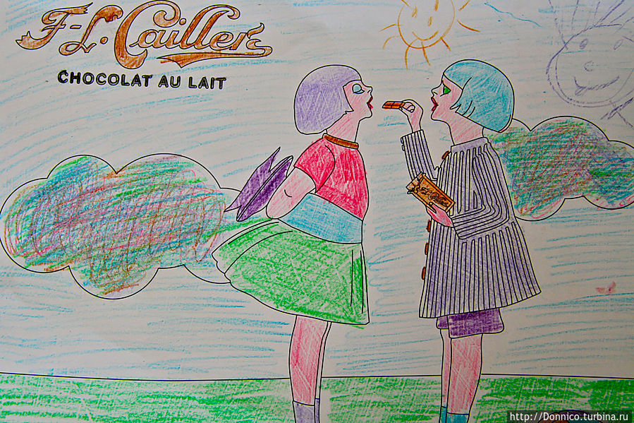 после экскурсии можно посидеть в местном кафетерии и вместе с детьми раскрасить тематические картинки. Вот, например, мой