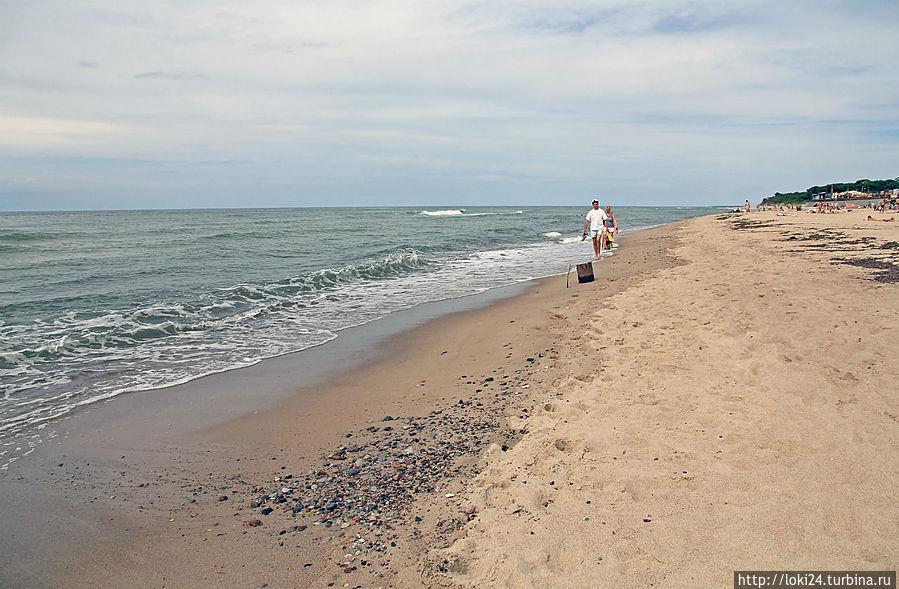 море))) Пляж в Лесном