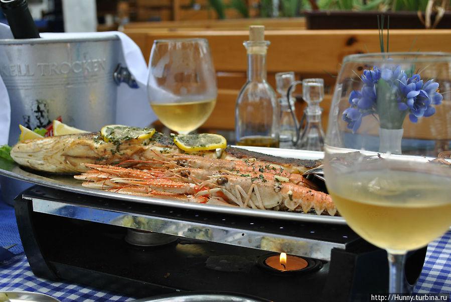 Вкуснейшие креветки и рыба