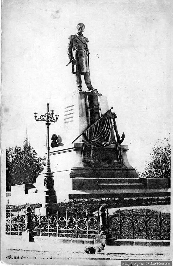 Дореволюционный памятник Нахимову