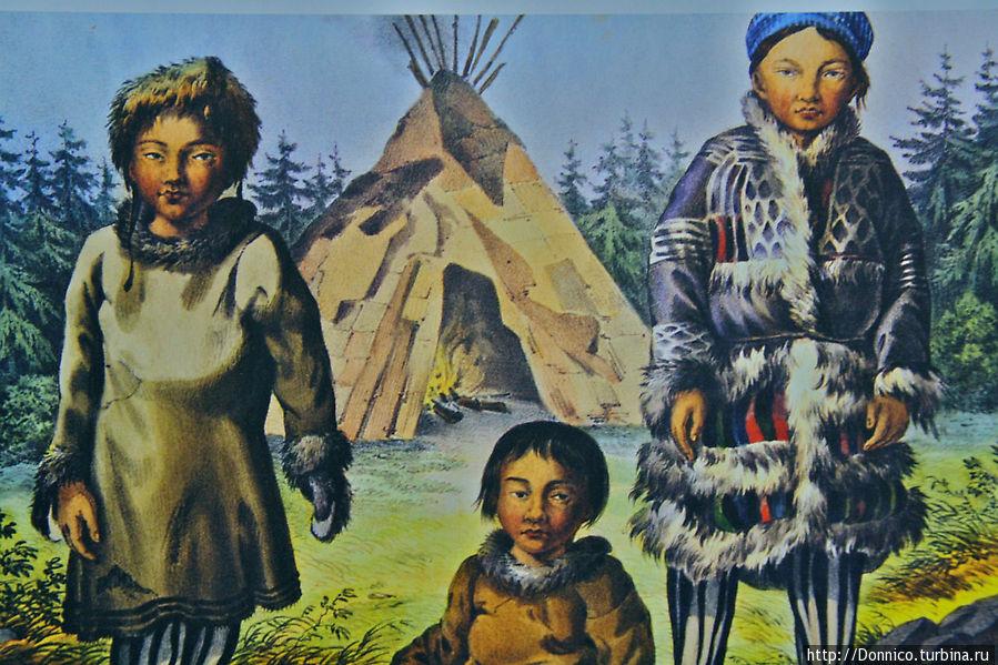 Саамы — коренной финно-угорский народ населявший эти места с незапамятный времен (1500 лет до н.э.). Что любопытно по некоторым исследованиям имели общих предков с атлантического побережья европы в частности с басками. Возможно оттуда их и привела любовь к морю и морским промыслам