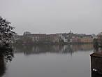 Вид с моста на город Хиллерёд.