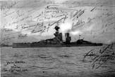 Фотография крейсера Мальборо с подписями всех отплывших (фото из Интернета)