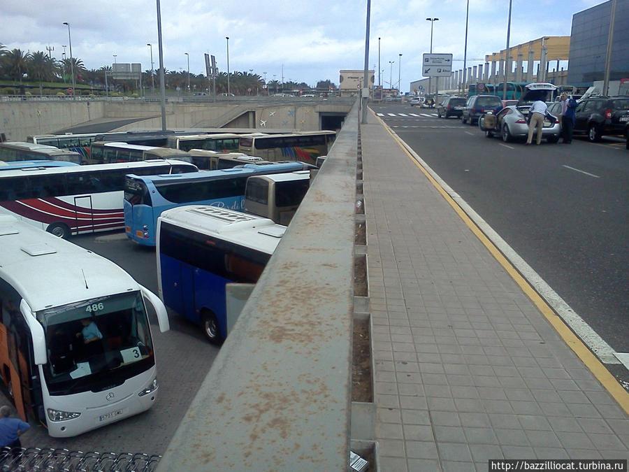 Автобус из аэропорта. Направление — Лас-Пальмас. Канарские острова, Испания
