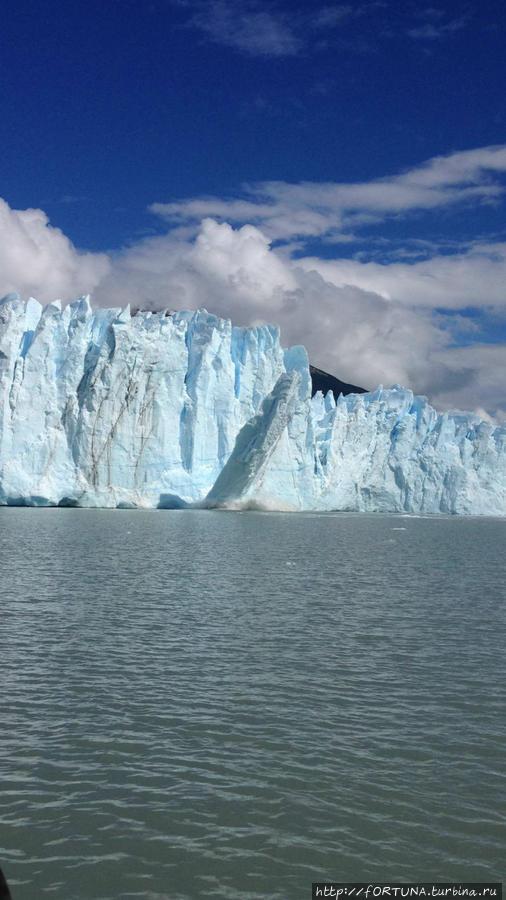 от ледника отломился большой кусок
