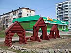 Маленький фрагмент второй транспортной артерии города — проспекта Ленина.