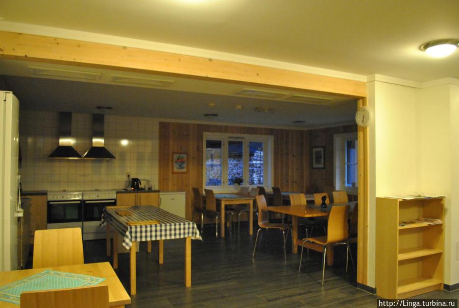 Кухня и столовая хостела