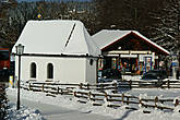 Капелла,где первоначально помещалась фигура Бичуемoго Христа.Зимой обычно закрыта для посещения.