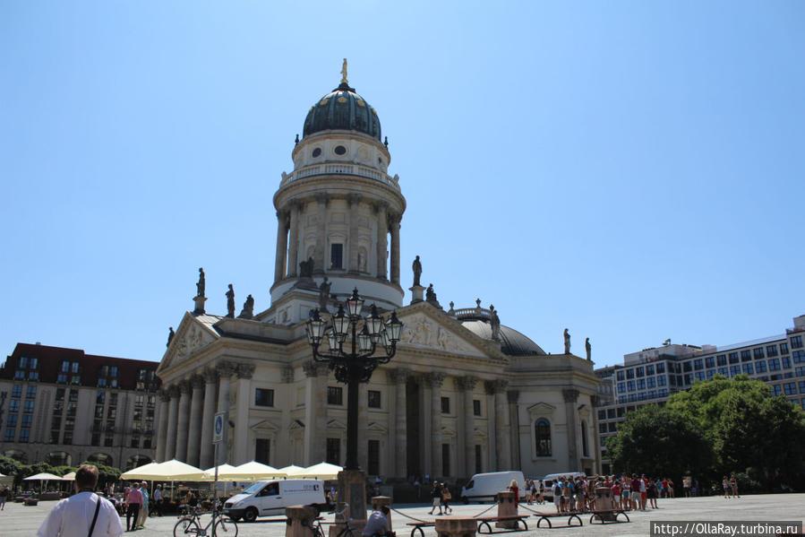Немецкий собор на площади Gendarmenmarkt.