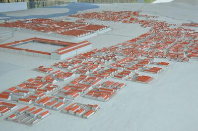 макет древнеримского города