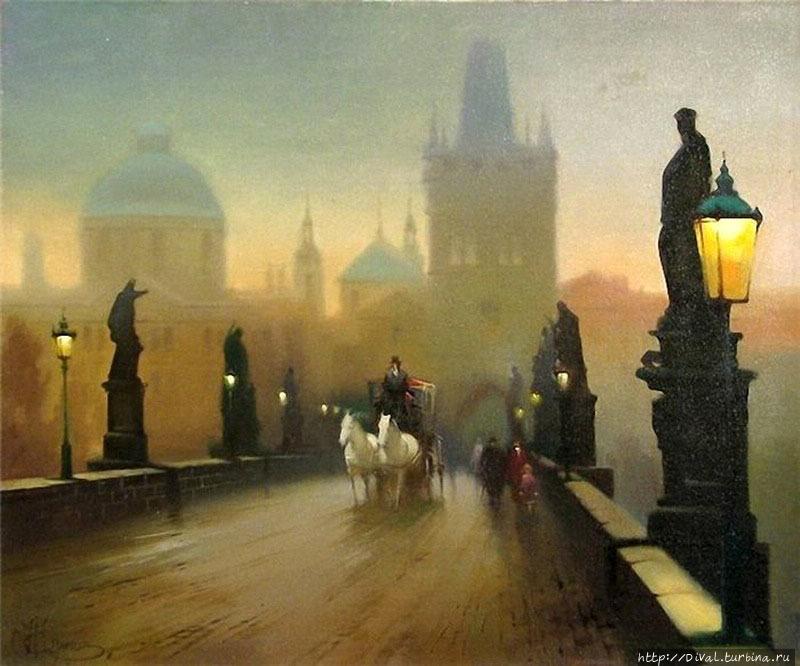 Прага —  где город вечерами тебе в затылок светит фонарями
