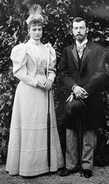 Цесаревич Николай и принцесса Алиса Гессенская возле дачи Голубка (фото из Интернета)