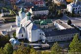 Николаевский собор, изначально возведенный как костел францисканского монастыря, основанного в 1606 году. Согласно легенде, основательницей этого монастыря была все та же княгиня, или даже королева, Бона.