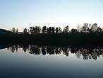 вечер на озере октябрь финляндия