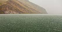 Проливной ливень в устье реки Туба.